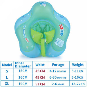 Baby Inflatable Swimming Float with Protective Belt Measurements
