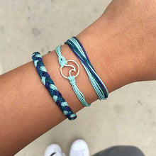 Blue 3-piece Wave Bracelet