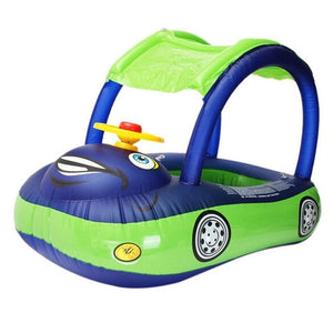 Baby Sunshade Steering Wheel Float - Dark Blue and Green