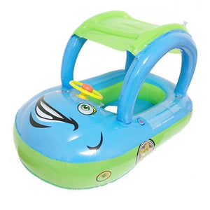 Baby Sunshade Steering Wheel Float - Sky Blue and Green