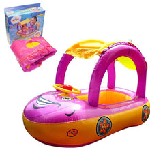 Baby Sunshade Steering Wheel Float - Pink and Yellow