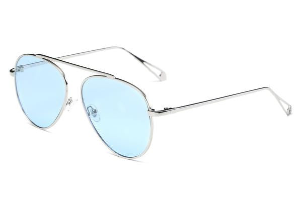 Blue Unisex Aviator Sunglasses