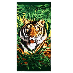 Tiger Print Rectangular Beach Towel