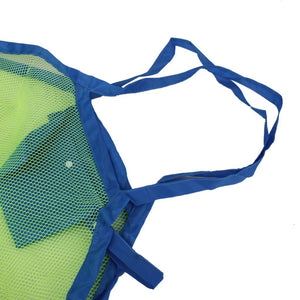 Foldable Mesh Beach Bag for Kids Toys-opened