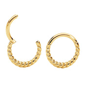 1 Pair Stainless Steel Twist Sleeper Earrings - 16G - PFGWholesale