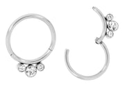 365 Sleepers 1 Pair Stainless Steel Gem Hinged Sleeper Earrings - PFGWholesale