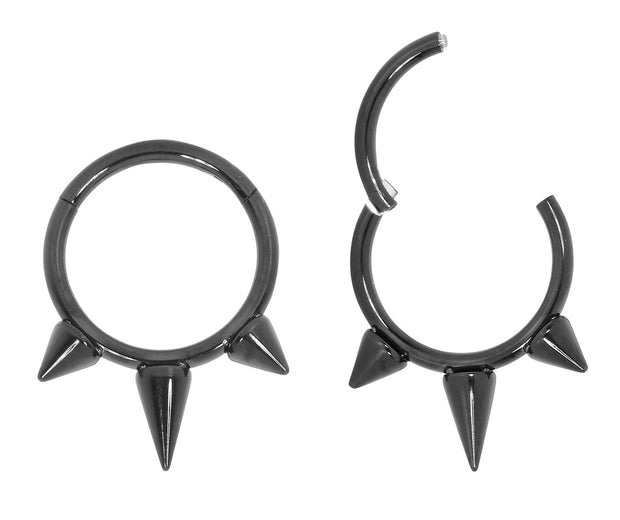 1 Pair Stainless Steel Spike Sleeper Earrings | Body Jewellery | PFG Wholesale