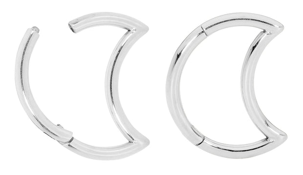 1 Pair Stainless Steel Moon Sleeper Earrings | Body Jewellery | PFG Wholesale