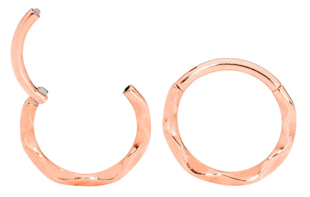 1 Pair 16G Stainless Steel Twist Sleeper Earrings | Body Jewellery | PFG Wholesale