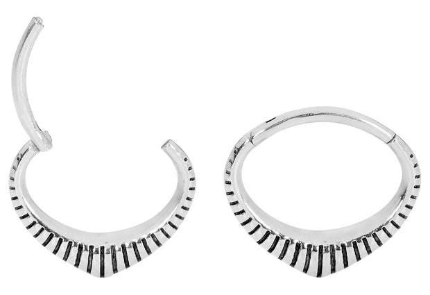 1 Pair Stainless Steel Oval Sleeper Earrings | Body Jewellery | PFG Wholesale