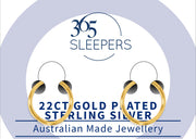 365 Sleepers 22ct Gold Plated Sterling Silver Hinged Sleeper Earrings - 18G | Body Jewellery | PFG Wholesale