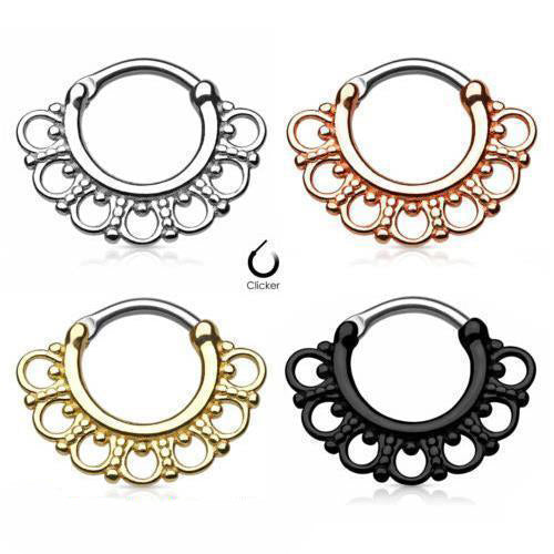 Titanium Septum Clicker Ring | Body Jewellery | PFG Wholesale