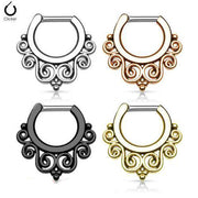 1 Piece Stainless Steel Septum Hinged Clicker Nose Ring | Body Jewellery | PFG Wholesale