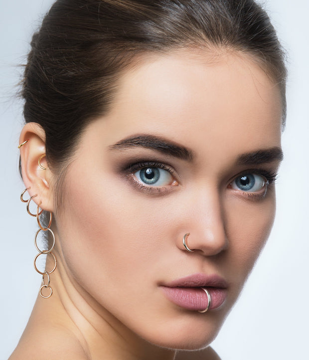 22ct Gold Plated Sterling Silver Sleeper Earrings - 18G | Body Jewellery | PFG Wholesale
