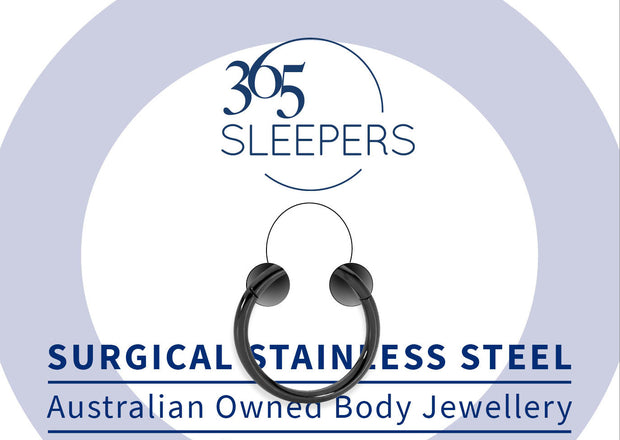 365 Sleepers 1 Piece Stainless Steel Hinged Segment Ring - 10G | Body Jewellery | PFG Wholesale