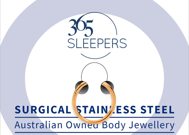 365 Sleepers 1 Piece Stainless Steel Hinged Segment Ring - 6G | Body Jewellery | PFG Wholesale