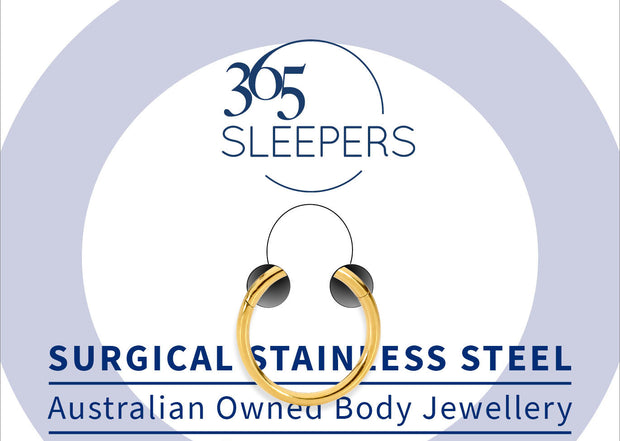 365 Sleepers 1 Piece Stainless Steel Hinged Segment Ring - 18G | Body Jewellery | PFG Wholesale