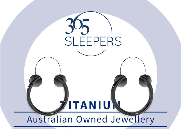 365 Sleepers 1 Pair G23 Titanium Hinged Sleeper Earrings - 18G | Body Jewellery | PFG Wholesale