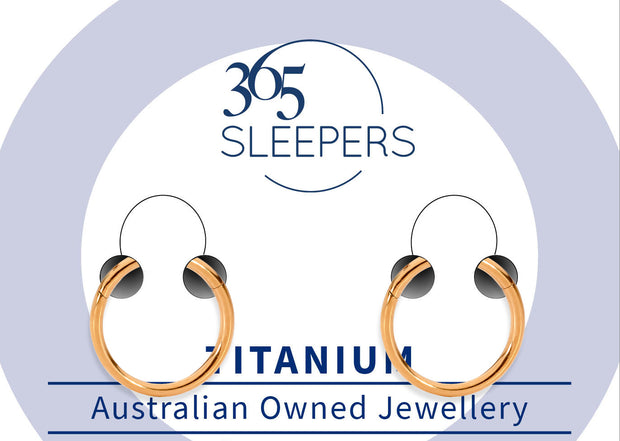 365 Sleepers 1 Pair G23 Titanium Hinged Sleeper Earrings - 16G - PFGWholesale