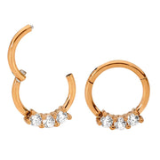 365 Sleepers 1 Pair Stainless Steel Gem Hinged Sleeper Earrings | Body Jewellery | PFG Wholesale