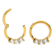 1 Pair Stainless Steel Gem Sleeper Earrings | Body Jewellery | PFG Wholesale