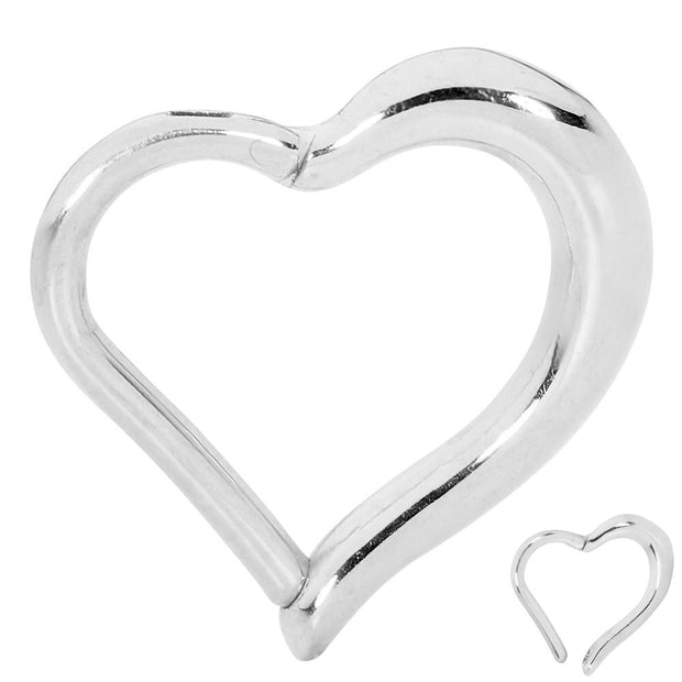 1 Piece Stainless Steel Heart Segment Ring - 16G - Sold Individually | Body Jewellery | PFG Wholesale