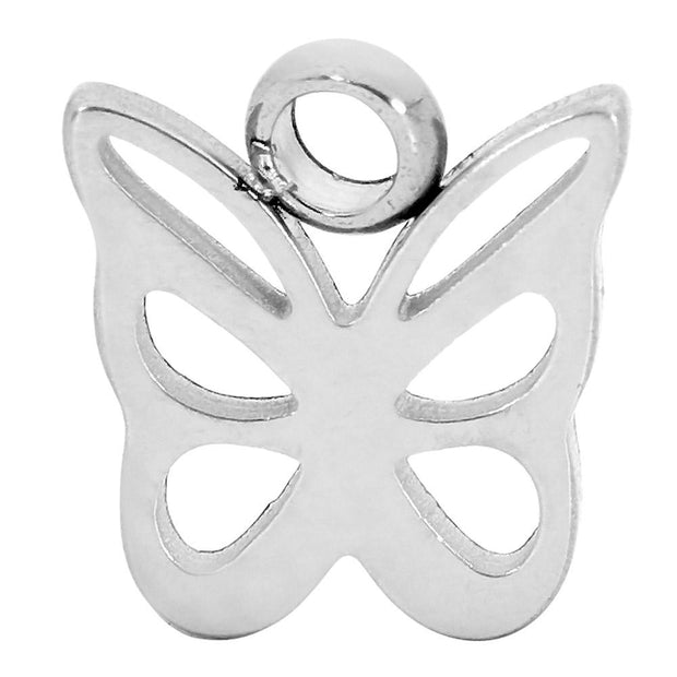 1 Piece Stainless Steel Butterfly Charm Segment Ring - 18G - Sold Individually | Body Jewellery | PFG Wholesale