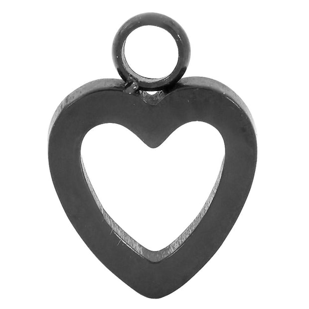 1 Piece Stainless Steel Heart Charm Segment Ring - 18G - Sold Individually | Body Jewellery | PFG Wholesale