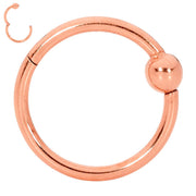 365 Sleepers 1 Piece Stainless Steel Hinged Ball Closure Segment Ring - 20G-18G-16G-14G | Body Jewellery | PFG Wholesale