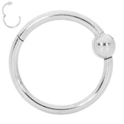 1 Piece Stainless Steel Hinged Ball Closure Ring - 20G,18G,16G,14G - Sold Individually - PFGWholesale