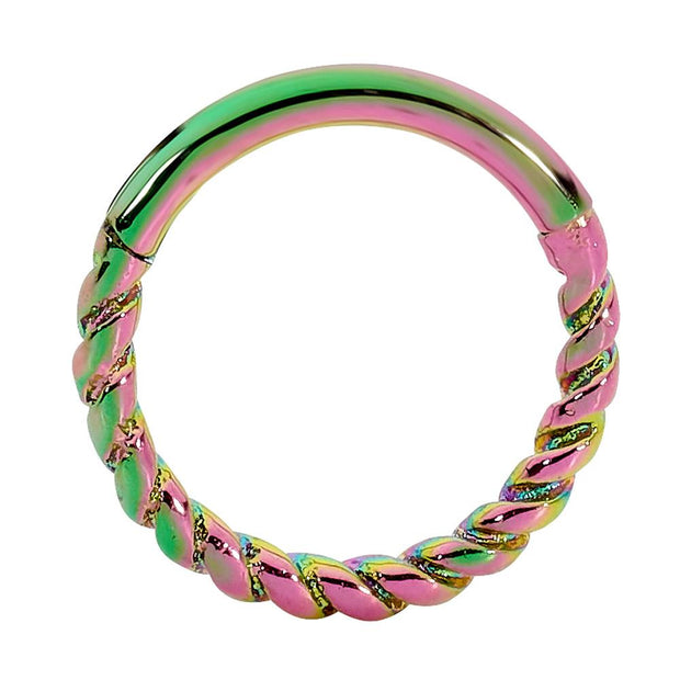 1 Piece Stainless Steel Twist Segment Ring - 16G - Sold Individually | Body Jewellery | PFG Wholesale