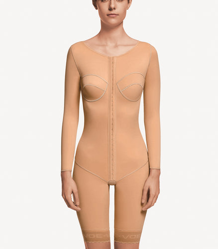 ART 5011 Above the knee full body shaper with vest incorporated