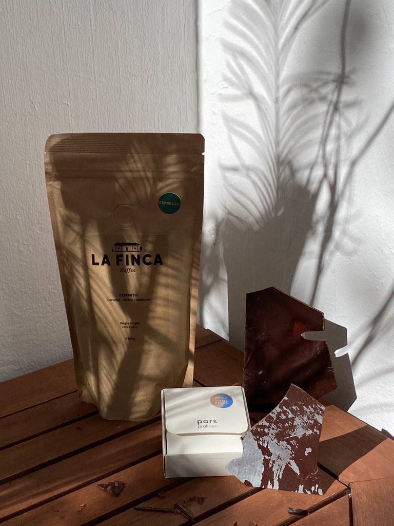 pars Pralinen x La Finca | 250g Espresso and Broken Chocolate | Giftset