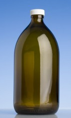 1000ml Glass bottle - amber sirop