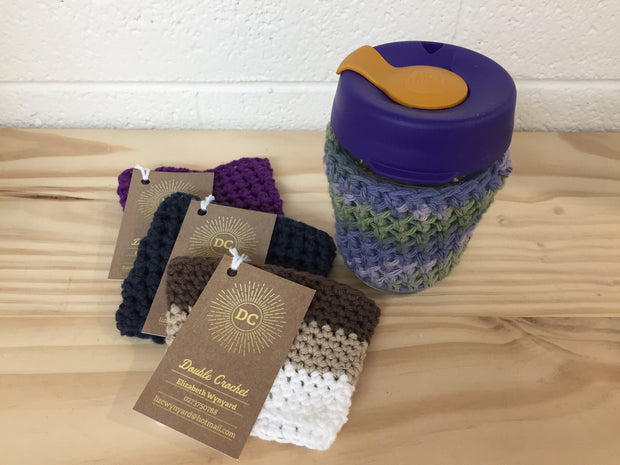 Double Crochet Reusable Coffee Cup Sleeve