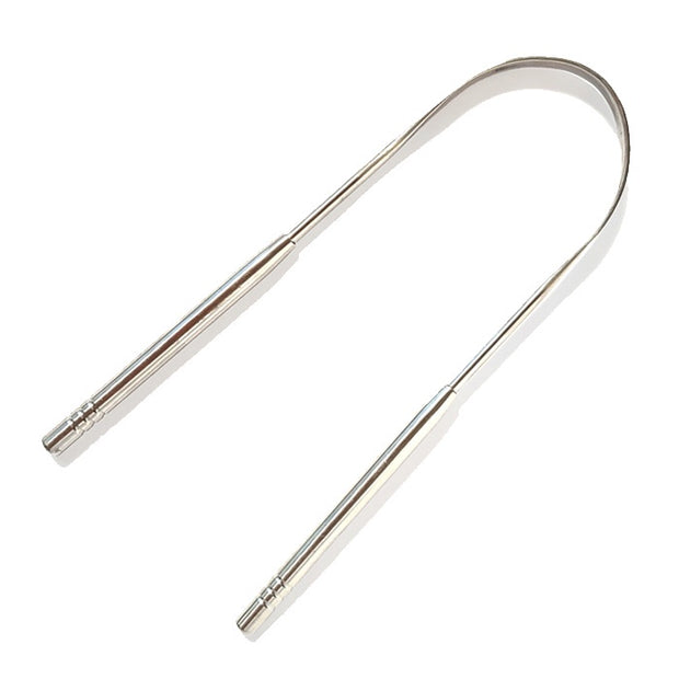 Solid Stainless Steel Tongue Scraper