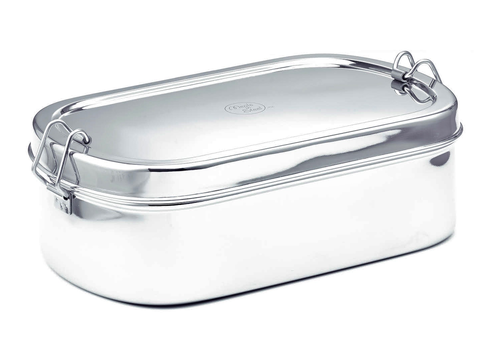 Meals in Steel Large Oval Lunchbox