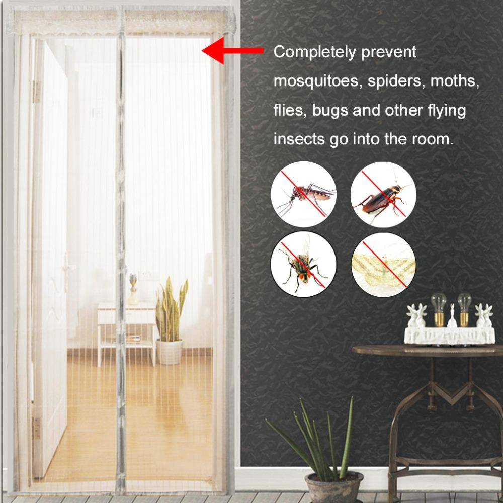 Anti Insect Curtains – Magnetic Mesh Net with Automatic Closing