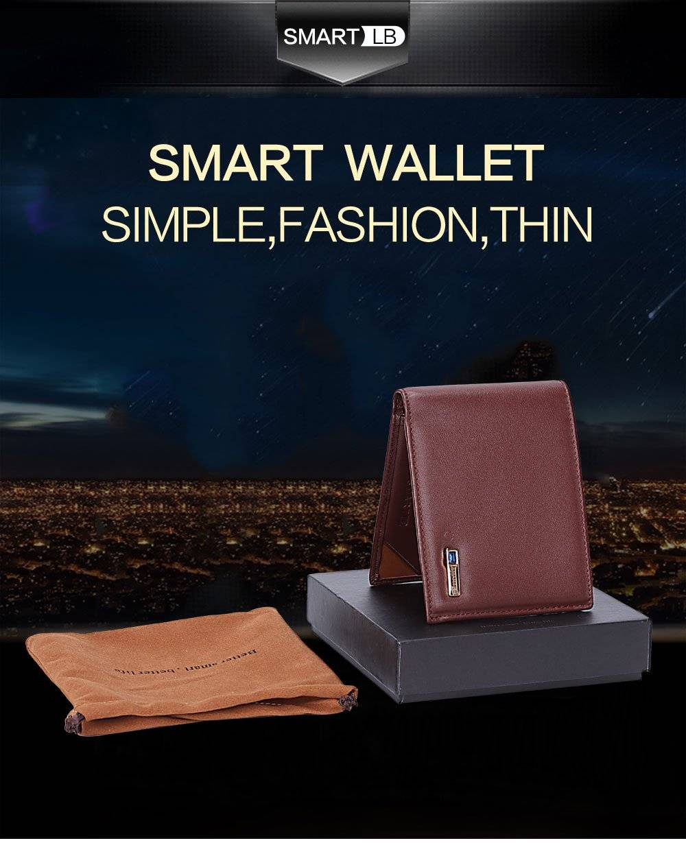 Smart Leather Wallet with GPS