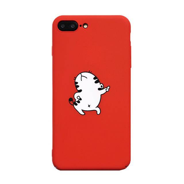 Posing Cartoon Cat Case