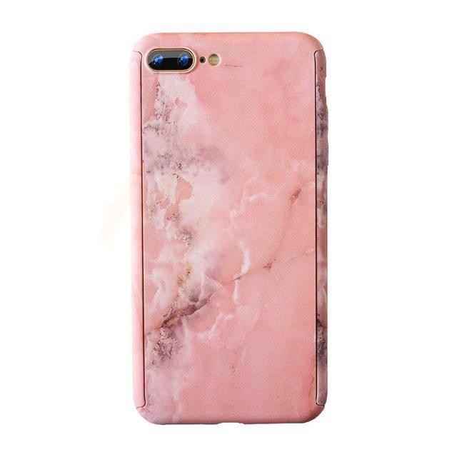 Marble Phone Case with 360° Protection (Baby Pink)