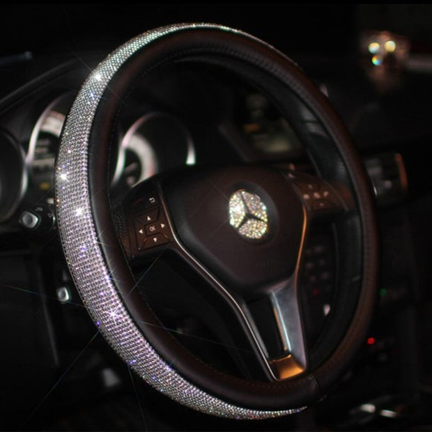 Rhinestone Steering Wheel Cover