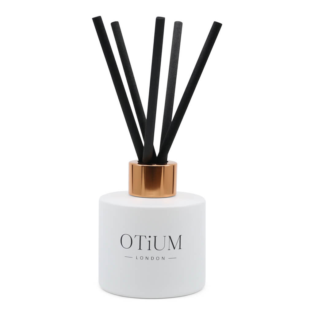 Premium Long Lasting Diffuser 100ml White with Rose Gold Cap