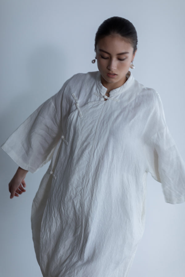 SEA LINEN LONG CHINA KAFTAN