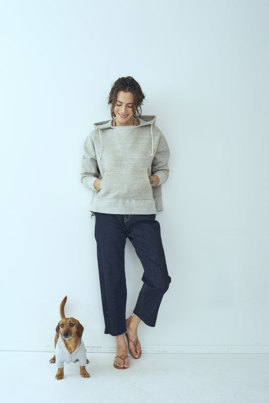 SEA x S for DOG Vintage Zip-up  Hooded Sweatshirt