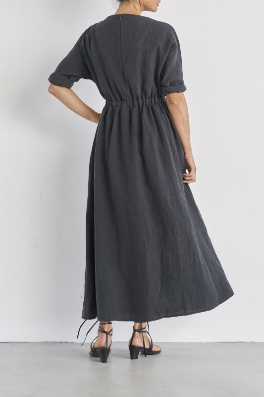 SEA Vintage Boatneck Linen Dress