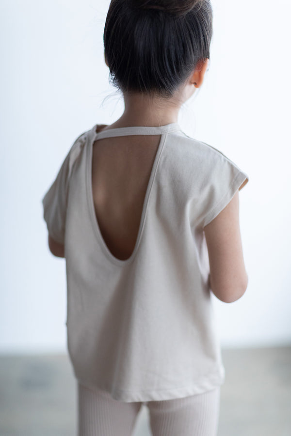 SEA CHIBI OPEN-BACK TOP FOR KIDS