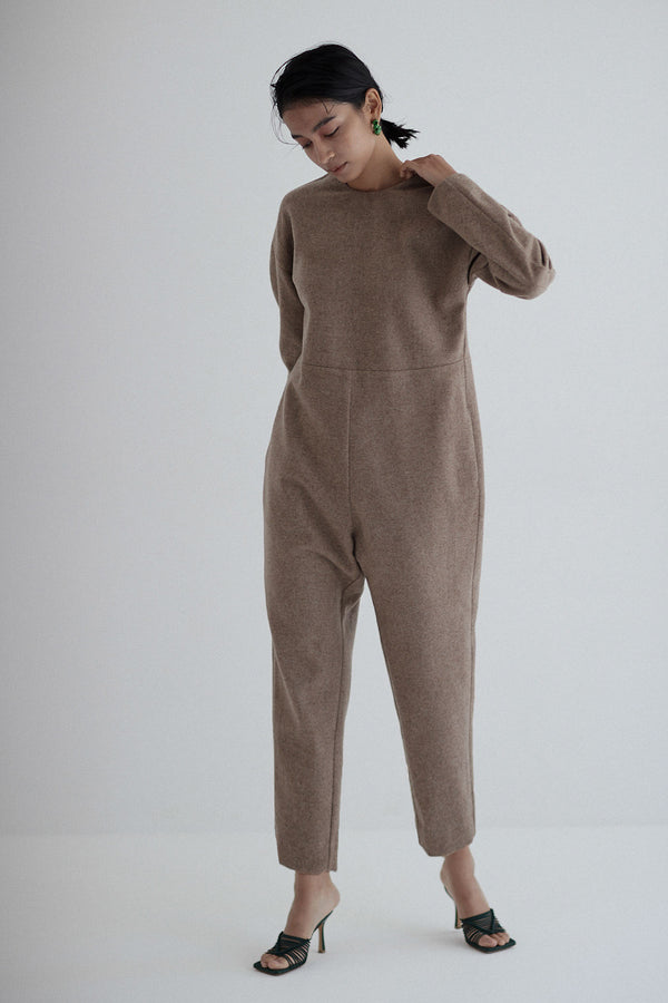 [PRE ORDER] SEA MELTON CURB SLEEVE JUMPSUITS