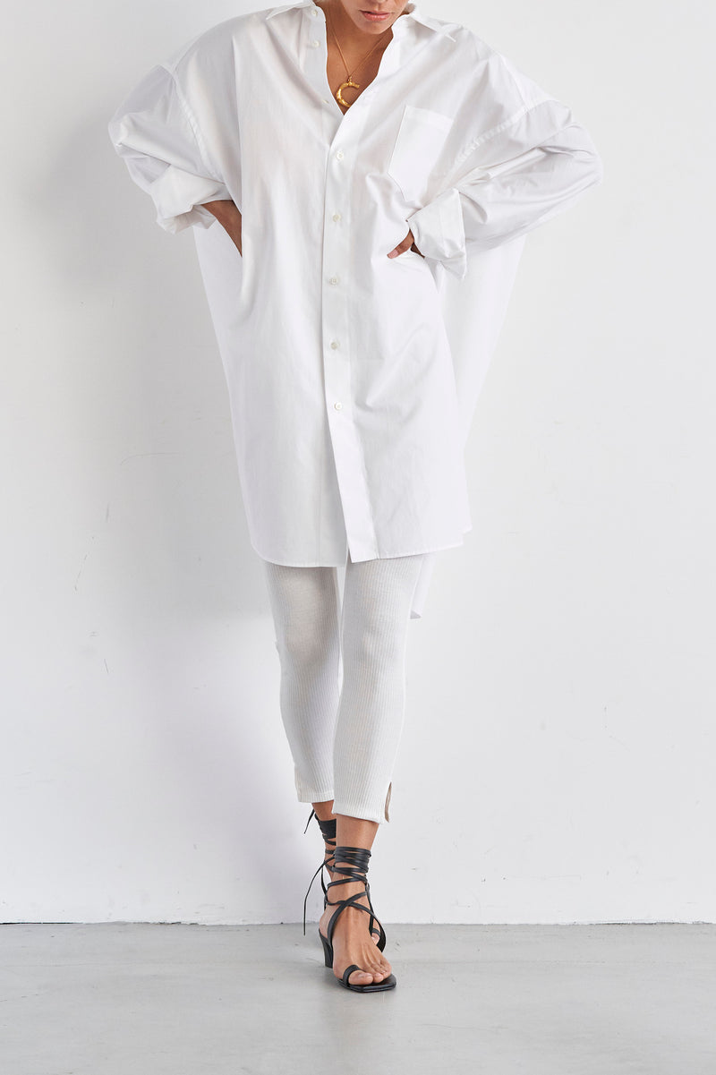 SEA Broadcloth Masculine Oversized Shirt