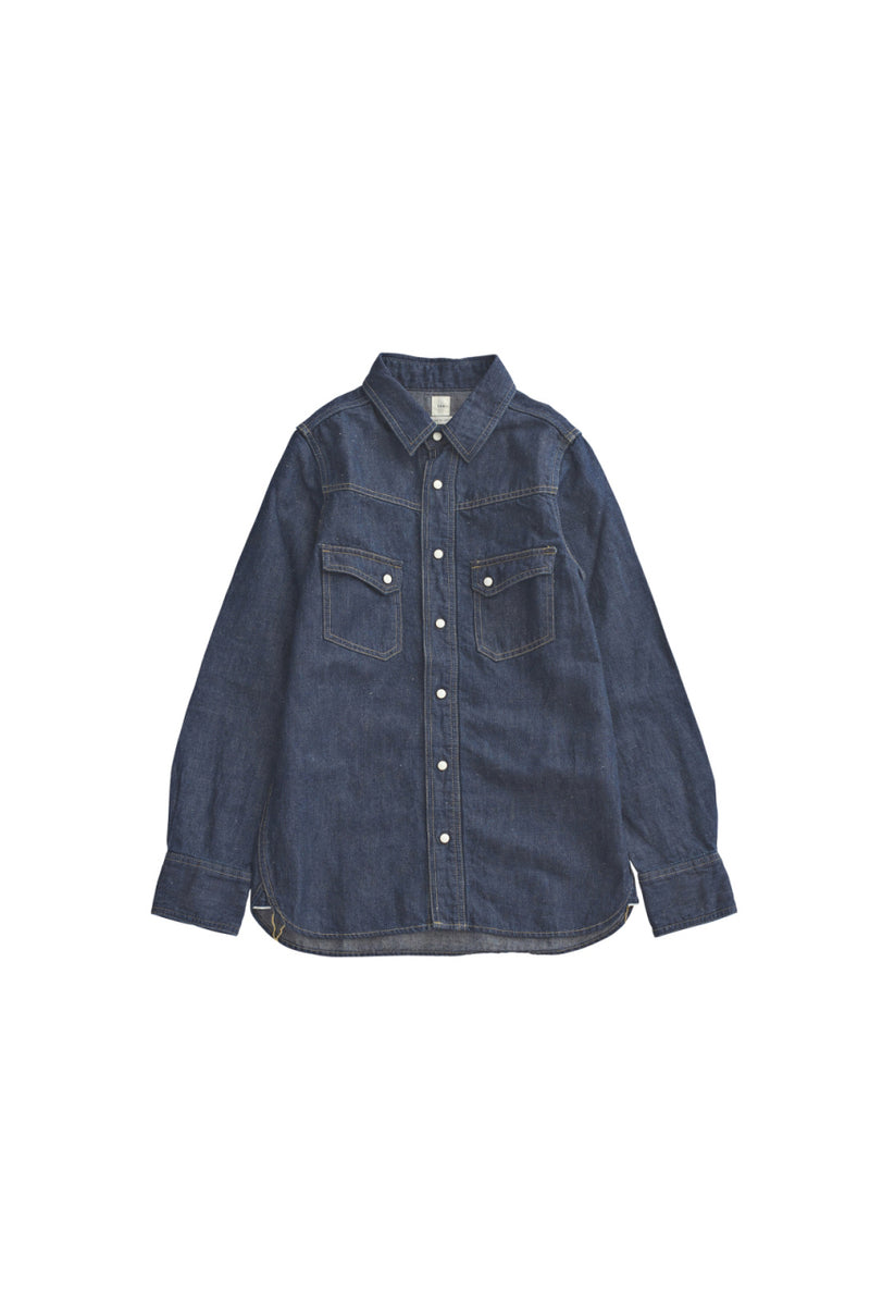 SEA Vintage Irish linen Denim Shirt